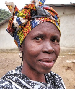 Sasanto Kamara, age 55, after recovering from bilateral cataract surgery in February 2012.
