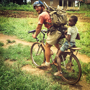 Tom Johnson during his Peace Corps service - 1990.