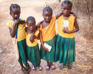 "Masongbo children members of our ""Sponsor a School Child"" program."